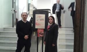 Bo con il Presidente dell'associazione ArtisticaMente Cultura - Carmine Perito
