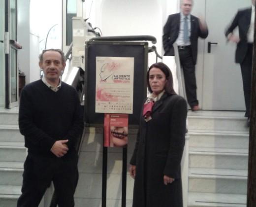 Bo con il Presidente dell'associazione ArtisticaMente Cultura – Carmine Perito
