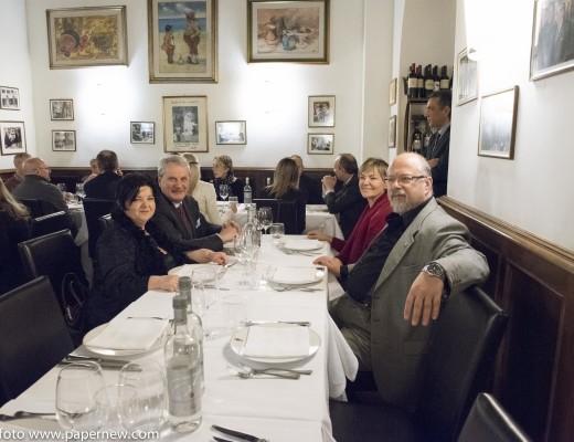 Da destra: Nathalie Altomonte della Maison Tahn, il Dott. Carlo Alberighi, la Dott.ssa Laura Talamoni e il Dott. Massimo Corigliano