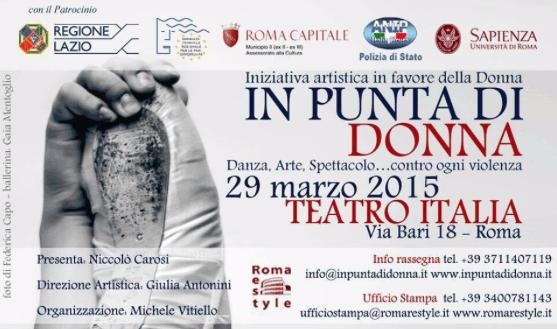 Evento del 29 marzo: In Punta di Donna